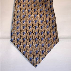 Geoffrey Beene Yellow Silk Tie